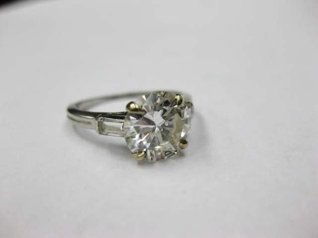 43: Tiffany and Co. Platinum Diamond Engagement Ring