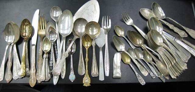 4: Assorted Sterling and Silver Plated Flatware