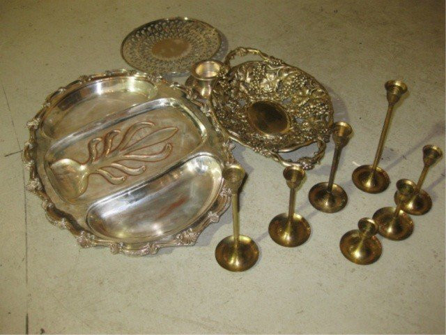 14: Assorted Silver Plated Articles