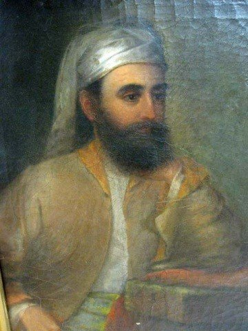 383: Oil Painting - Study of a Sheikh in Turban, Lewis