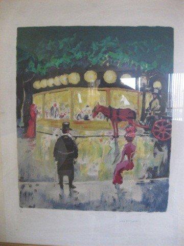 406: Lithograph - Street Scene, Van Dongen