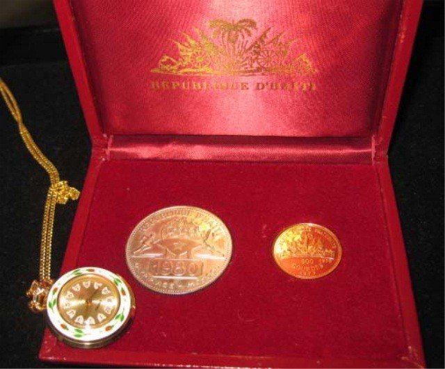 3: 1980 Olympic Coin Set & Pendant Watch
