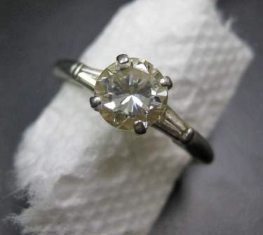 10: Platinum Diamond Engagement Ring