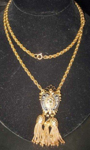 11: Victorian Style 14K Gold Pendant on Chain