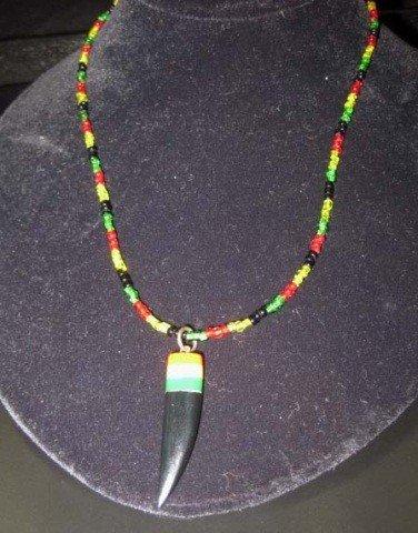 16: Rastaferian Style Beaded Necklace