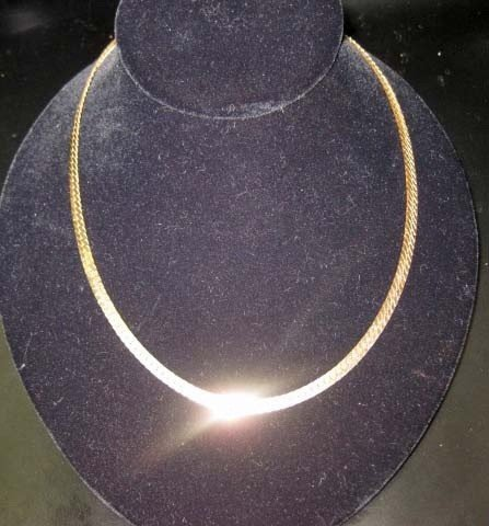 19: 14K Gold Wide Necklace
