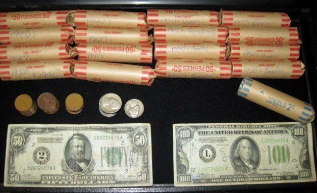 24: Collection of American Coins and Currency