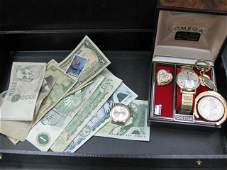 140 Assorted Currency and Jewelry