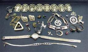 229 Assorted Gold Gold Filled and Costume Jewelry