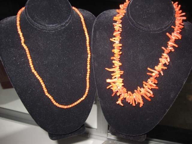 2: 2 Coral Necklaces