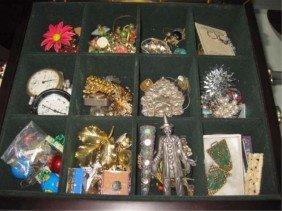 17: Assorted Costume Jewelry in Box