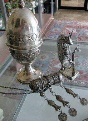 20: 3 Hebraic Silver Implements