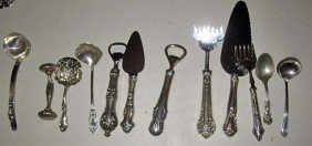 22: Collection of Sterling Silver Serving Implements