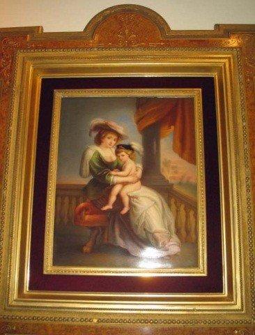 201: KPM Porcelain Plaque - Mother and Child