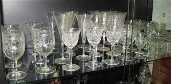 336: Group of Assorted Crystal Stemware