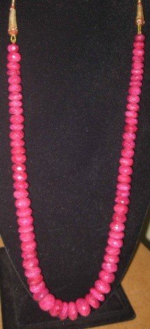 2: Strand of Rough Faceted Cut Rubies