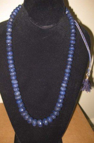 4: Strand of Rough Faceted Cut Sapphire Beads