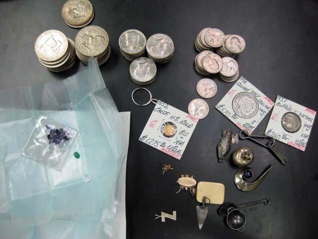 7: Assorted Coins, Sterling Silver, Gemstones, etc.