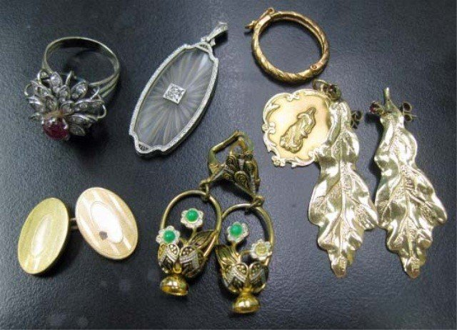 9: Assorted Gold and Metal Jewelry