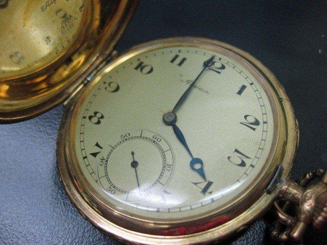 24: Alpina 14K Gold Closed Case Pocket Watch
