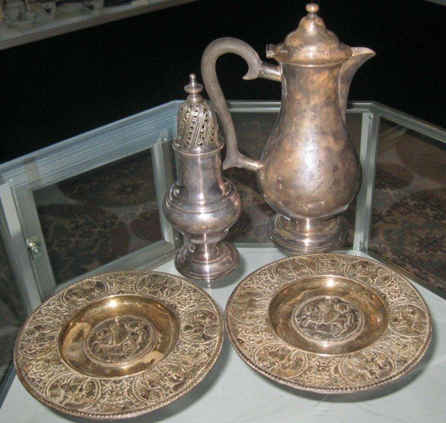3: 4 Silver Plated Articles