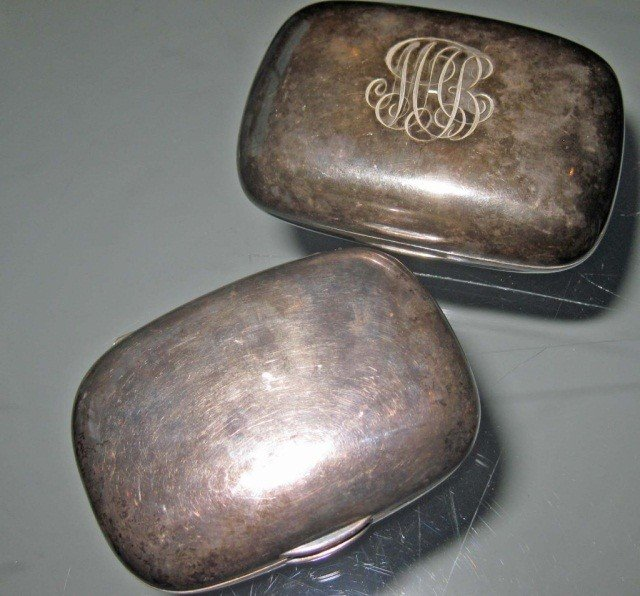 9: 2 Tiffany and Co. Hinged Boxes