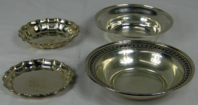 5: Group of four Sterling Silver Dishes