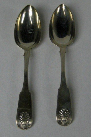9: Two Russian Silver Serving Spoons