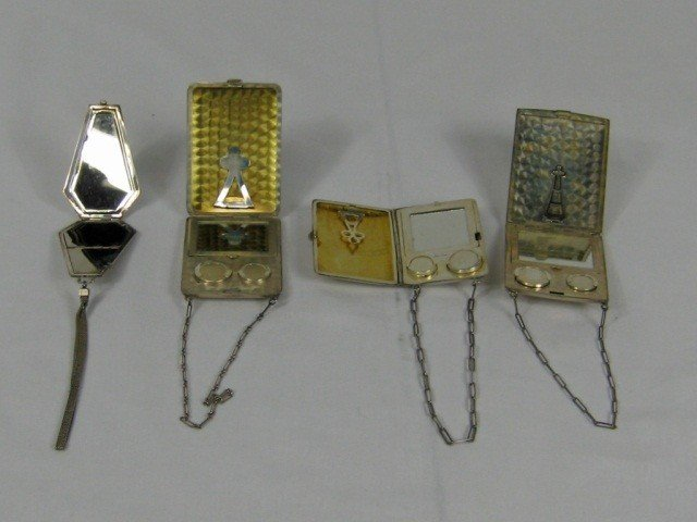 15: 3 Sterling Compacts and 1 Silver Plate Compact