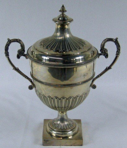 21: English Silver 2 handle Trophy cup