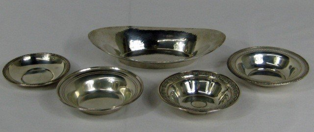 22: 5 Assorted Sterling Silver Dishes