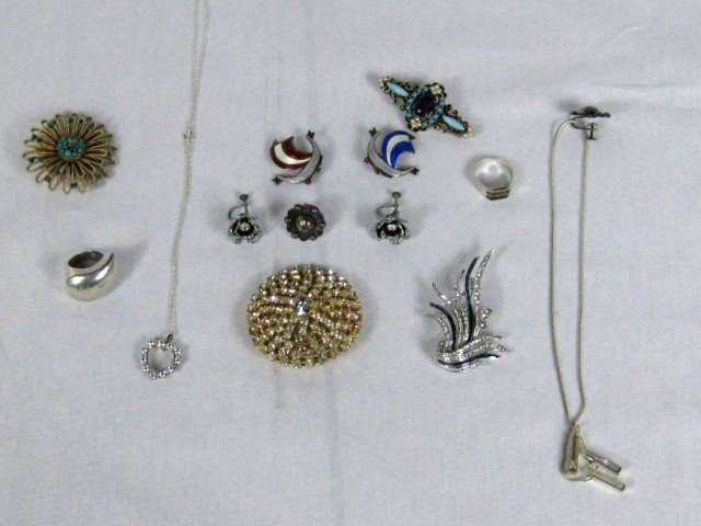 23: Assorted Costume & Sterling Jewelry