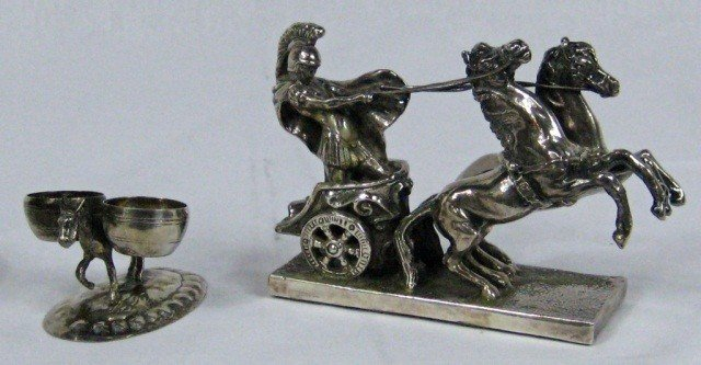 24: Silver Chariot & Silver Condiment Holder