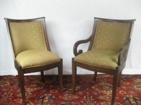 Set Of 10 Regency Style Dinning Room Chairs