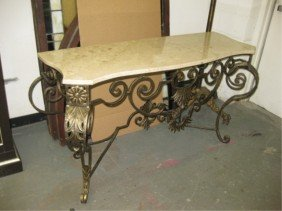 Louis XV Style Marble Top Console
