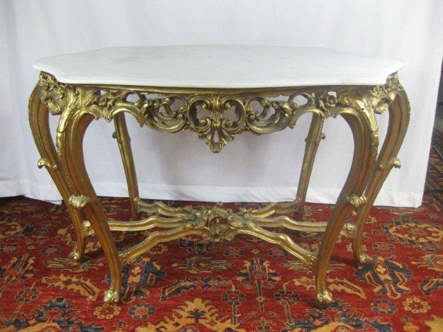 117: Louis XV Style Gilded Center Table