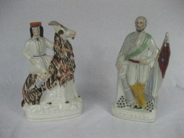 148: 2 Staffordshire Figural Groups