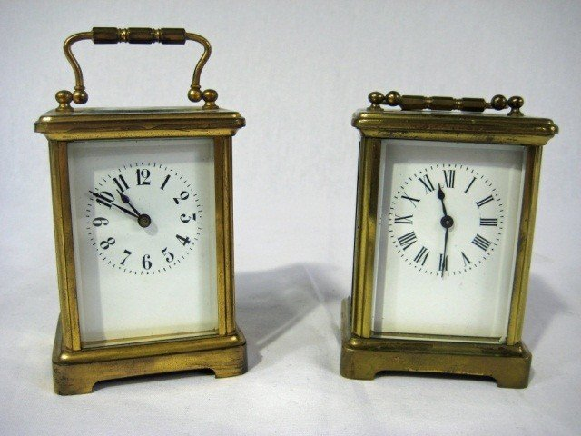 161: 2 French Carriage Clocks