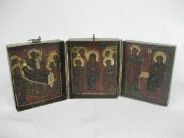 162: Russian 18th Century Tryptych