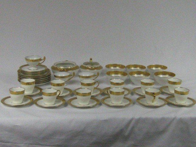 224: Gilt and White Tea and Coffee Set