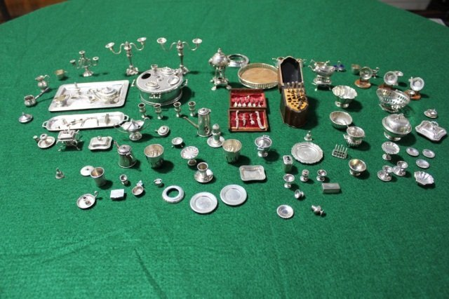 6: Group of Sterling Silver Miniature Table Articles