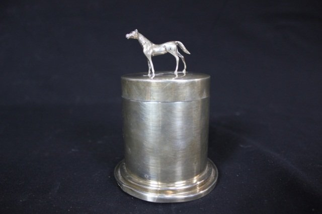 13: Udall & Ballou Sterling Silver Jar