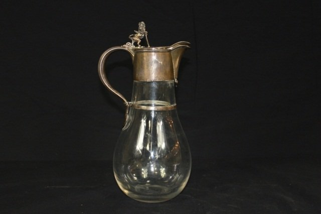 18: Tiffany & Co. Sterling Silver and Crystal Ewer