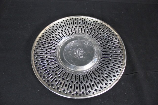 23: Gorham Sterling Silver Footed Pierced Plate