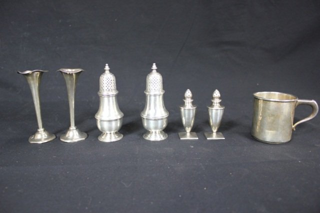 25: Misc. Group of Georgian Style Silver Articles