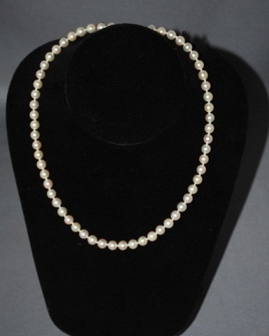 13: 16 Inch Strand of 6.2 MM Pearls