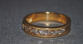 23: 14K Gold Band set with Diamonds