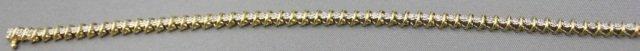 5: 10K Gold Diamond Tennis Bracelet