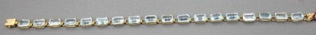 8: 14K Gold Aquamarine Bracelet