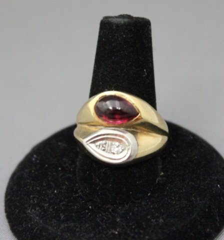 9: 14K Gold Ruby and Diamond Ring